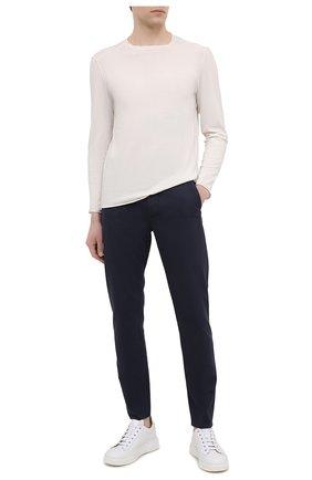 Мужские брюки TRANSIT темно-синего цвета, арт. CFUTRNF150 | Фото 2