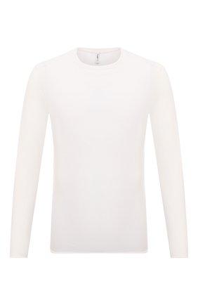 Мужской хлопковый джемпер TRANSIT белого цвета, арт. CFUTRN7420 | Фото 1