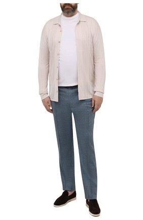 Мужская хлопковый лонгслив KIRED белого цвета, арт. WBACI0MW732100101B/64-74 | Фото 2