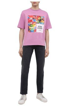 Мужская хлопковая футболка OPENING CEREMONY фиолетового цвета, арт. YMAA001S21JER006 | Фото 2