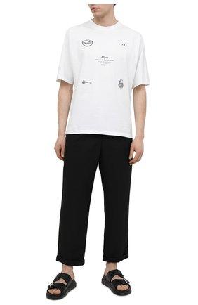 Мужские брюки NEIL BARRETT черного цвета, арт. PBPA817X/Q007 | Фото 2