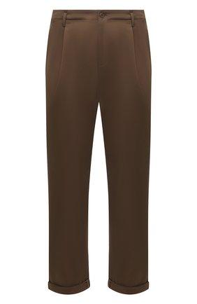 Мужские хлопковые брюки NEIL BARRETT хаки цвета, арт. PBPA817X/Q011 | Фото 1