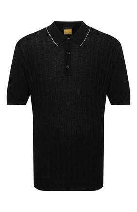 Мужское хлопковое поло SVEVO черного цвета, арт. 82164SE21/MP0002/60-62   Фото 1