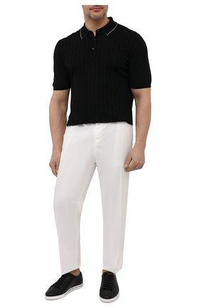 Мужское хлопковое поло SVEVO черного цвета, арт. 82164SE21/MP0002/60-62   Фото 2