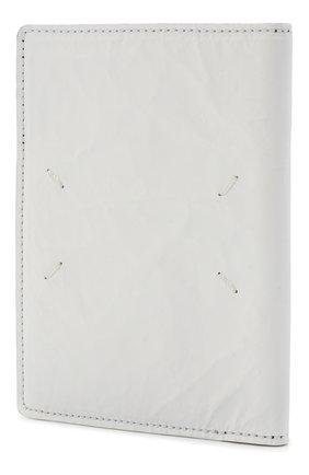 Мужской кожаная обложка для паспорта MAISON MARGIELA белого цвета, арт. S35UI0505/P4135 | Фото 2