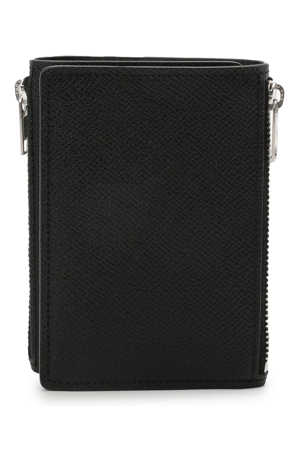 Мужской кожаное портмоне MAISON MARGIELA черного цвета, арт. S55UI0269/P0399   Фото 1 (Материал: Кожа)