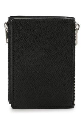 Мужской кожаное портмоне MAISON MARGIELA черного цвета, арт. S55UI0269/P0399 | Фото 1