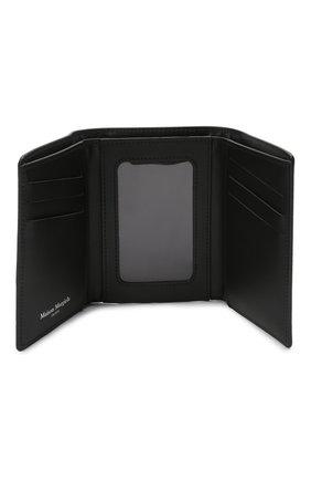 Мужской кожаное портмоне MAISON MARGIELA черного цвета, арт. S55UI0269/P0399   Фото 3 (Материал: Кожа)