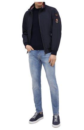 Мужские замшевые кеды JACOB COHEN темно-синего цвета, арт. DRILLED GARRETT-94005 | Фото 2