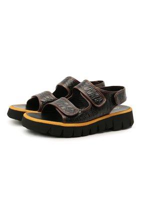 Мужские кожаные сандалии ROCCO P. темно-коричневого цвета, арт. 12023/ALCATRAZ   Фото 1
