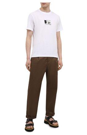 Мужские кожаные сандалии ROCCO P. темно-коричневого цвета, арт. 12023/ALCATRAZ   Фото 2