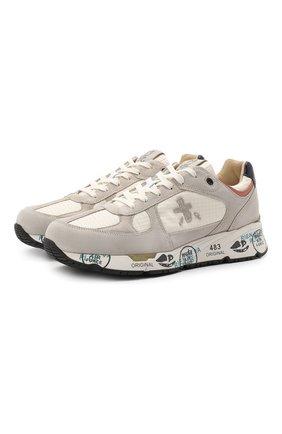 Мужские комбинированные кроссовки mase PREMIATA светло-серого цвета, арт. MASE/VAR5163 | Фото 1
