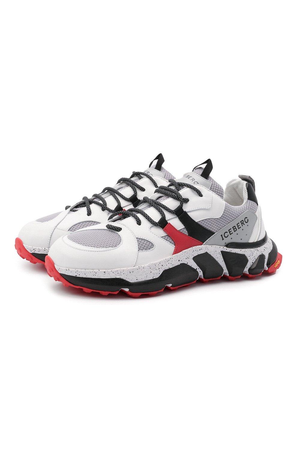 Мужские комбинированные кроссовки ICEBERG серого цвета, арт. NIU1401A/HER0 | Фото 1