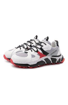 Мужские комбинированные кроссовки ICEBERG белого цвета, арт. NIU1401A/HER0 | Фото 1
