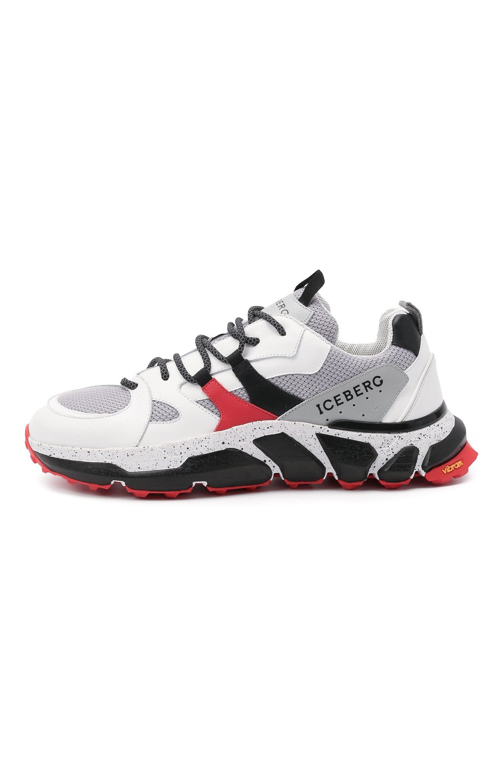 Мужские комбинированные кроссовки ICEBERG серого цвета, арт. NIU1401A/HER0 | Фото 3