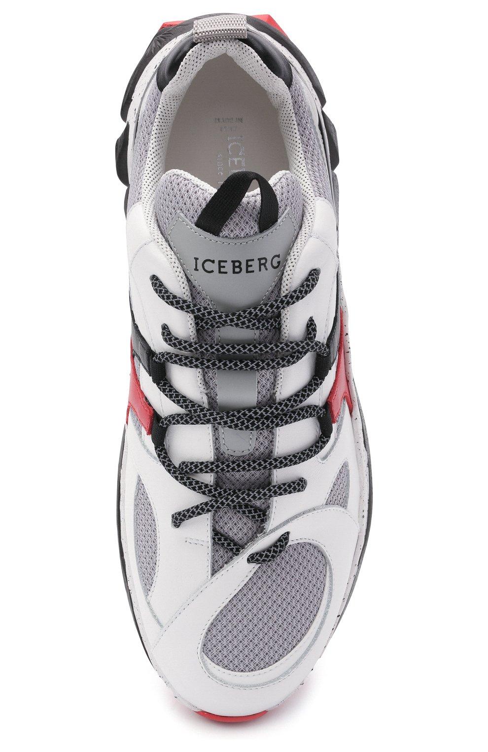 Мужские комбинированные кроссовки ICEBERG серого цвета, арт. NIU1401A/HER0 | Фото 5