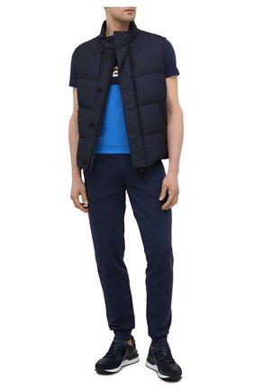 Мужские кожаные кроссовки MAGNANNI темно-синего цвета, арт. 23742/CR0STA | Фото 2