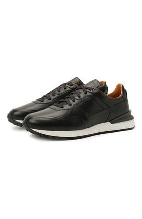 Мужские кожаные кроссовки MAGNANNI черного цвета, арт. 22926/B0LTAN | Фото 1