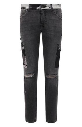 Мужские джинсы DOLCE & GABBANA серого цвета, арт. GWLFCD/G8DL6 | Фото 1