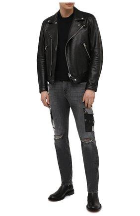 Мужские джинсы DOLCE & GABBANA серого цвета, арт. GWLFCD/G8DL6 | Фото 2