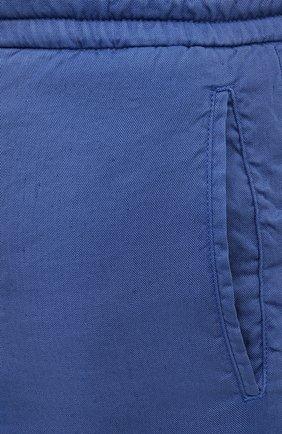 Мужские брюки MARCO PESCAROLO синего цвета, арт. CHIAIAM/4306   Фото 5 (Big sizes: Big Sizes; Силуэт М (брюки): Чиносы; Длина (брюки, джинсы): Стандартные; Случай: Повседневный; Материал внешний: Лен; Стили: Кэжуэл)