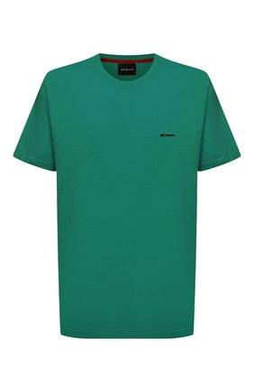 Мужская хлопковая футболка KITON зеленого цвета, арт. UK1274L | Фото 1