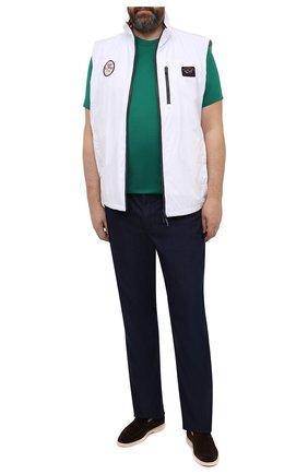 Мужская хлопковая футболка KITON зеленого цвета, арт. UK1274L | Фото 2