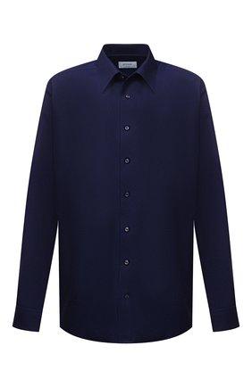 Мужская хлопковая сорочка ETON темно-синего цвета, арт. 1000 02156 | Фото 1 (Случай: Формальный; Стили: Классический; Длина (для топов): Стандартные; Рукава: Длинные; Материал внешний: Хлопок; Рубашки М: Regular Fit; Принт: Однотонные; Манжеты: На пуговицах; Big sizes: Big Sizes; Воротник: Кент)