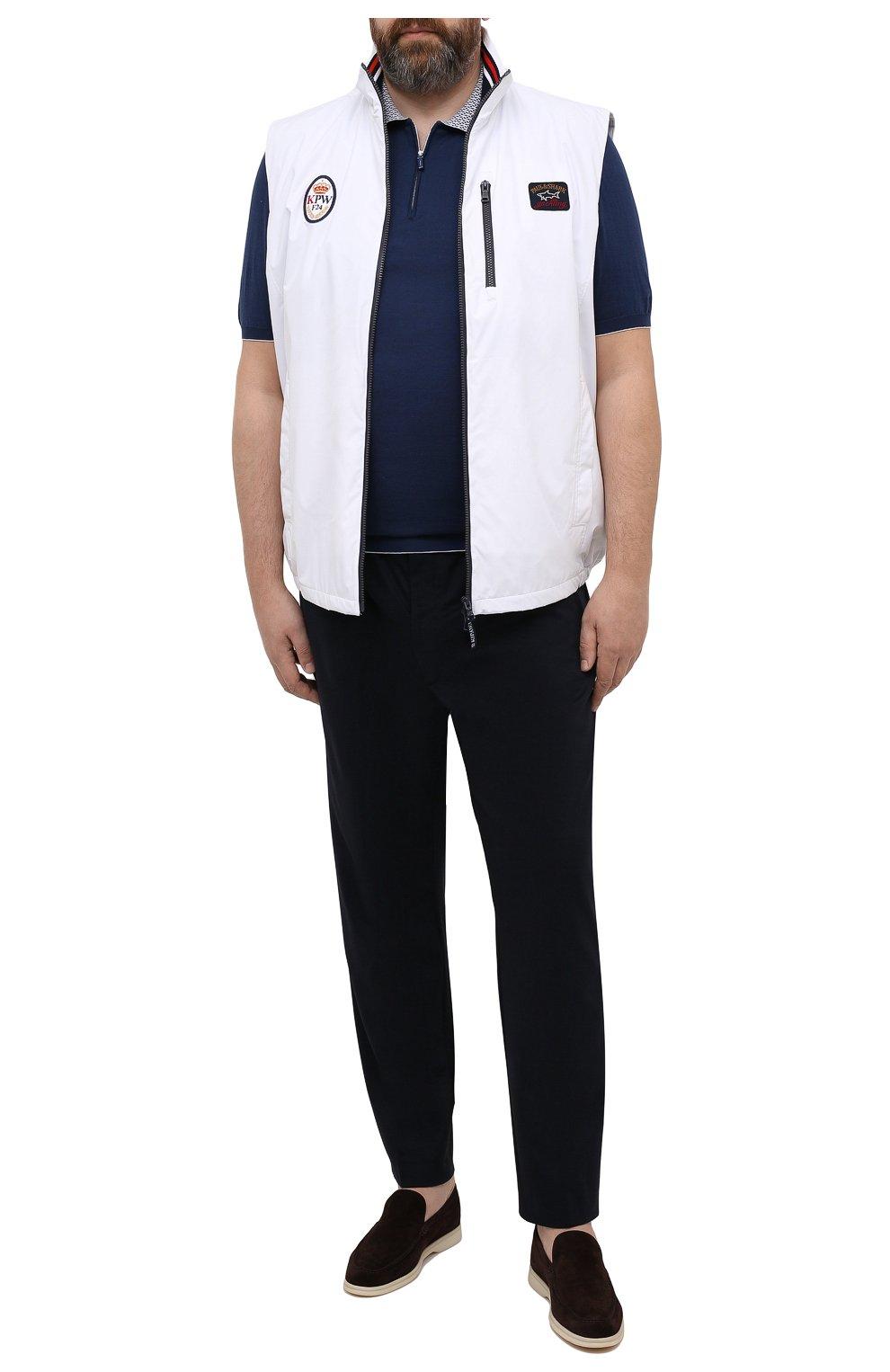 Мужские брюки BOGNER темно-синего цвета, арт. 18496619 | Фото 2 (Big sizes: Big Sizes; Длина (брюки, джинсы): Стандартные; Случай: Повседневный; Материал внешний: Синтетический материал; Материал подклада: Синтетический материал; Стили: Кэжуэл)