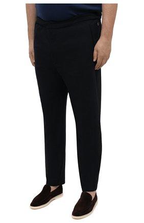 Мужские брюки BOGNER темно-синего цвета, арт. 18496619 | Фото 3 (Big sizes: Big Sizes; Длина (брюки, джинсы): Стандартные; Случай: Повседневный; Материал внешний: Синтетический материал; Материал подклада: Синтетический материал; Стили: Кэжуэл)