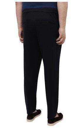Мужские брюки BOGNER темно-синего цвета, арт. 18496619 | Фото 4 (Big sizes: Big Sizes; Длина (брюки, джинсы): Стандартные; Случай: Повседневный; Материал внешний: Синтетический материал; Материал подклада: Синтетический материал; Стили: Кэжуэл)