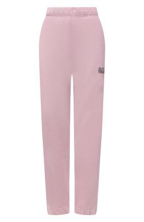 Женские хлопковые джоггеры GANNI светло-розового цвета, арт. T2772 | Фото 1