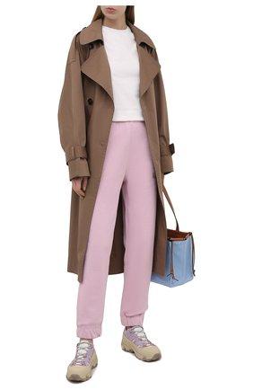Женские хлопковые джоггеры GANNI светло-розового цвета, арт. T2772 | Фото 2