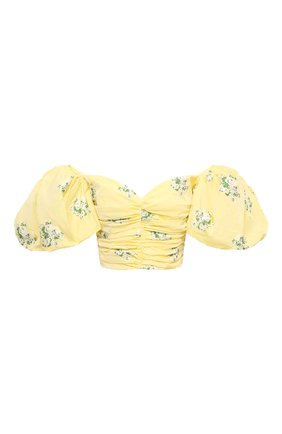 Женский топ GIUSEPPE DI MORABITO желтого цвета, арт. SS21107T0-129   Фото 1