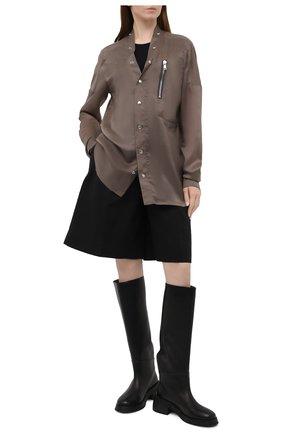 Женская рубашка RICK OWENS коричневого цвета, арт. RP21S3732/J   Фото 2