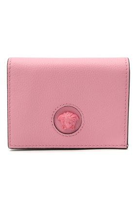Женские кожаный кошелек la medusa VERSACE розового цвета, арт. DPDI058/DVIT4T | Фото 1