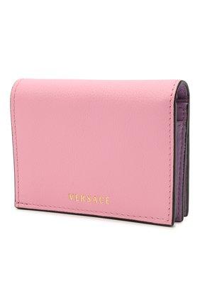 Женские кожаный кошелек la medusa VERSACE розового цвета, арт. DPDI058/DVIT4T | Фото 2
