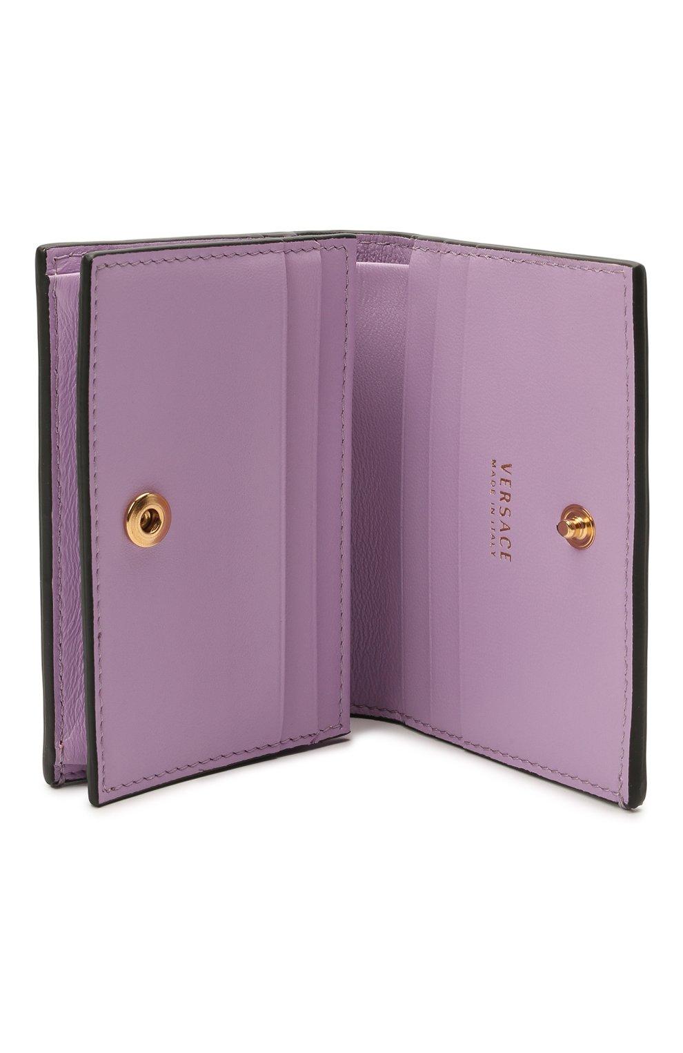 Женские кожаный кошелек la medusa VERSACE розового цвета, арт. DPDI058/DVIT4T | Фото 3