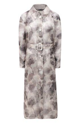 Женское шелковое пальто FENDI серого цвета, арт. FF8797 AF7P   Фото 1