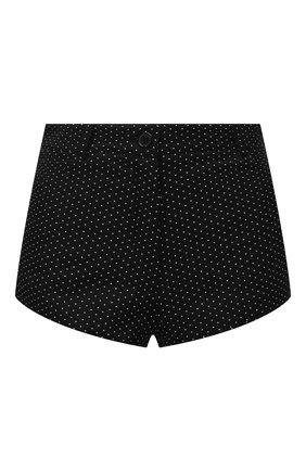 Женские джинсовые шорты SAINT LAURENT черно-белого цвета, арт. 645965/Y836T | Фото 1