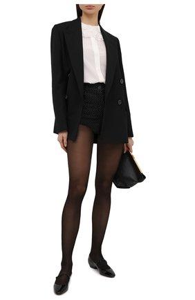 Женские джинсовые шорты SAINT LAURENT черно-белого цвета, арт. 645965/Y836T | Фото 2