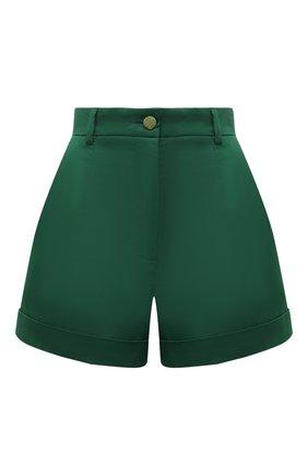 Женские хлопковые шорты DOLCE & GABBANA зеленого цвета, арт. FTBTQT/FUFJR | Фото 1