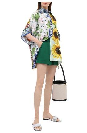 Женские хлопковые шорты DOLCE & GABBANA зеленого цвета, арт. FTBTQT/FUFJR | Фото 2