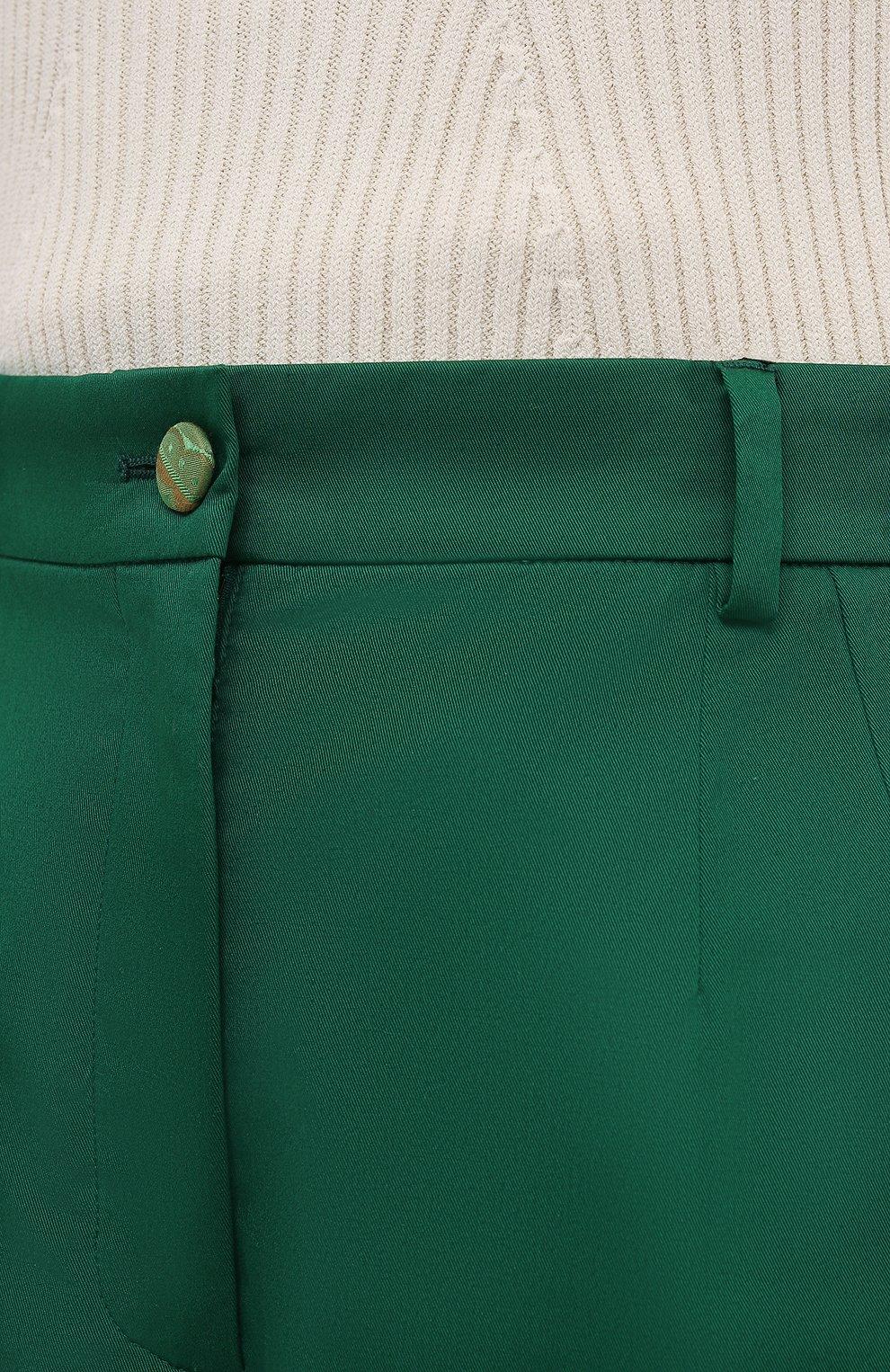 Женские хлопковые шорты DOLCE & GABBANA зеленого цвета, арт. FTBTQT/FUFJR | Фото 5 (Женское Кросс-КТ: Шорты-одежда; Длина Ж (юбки, платья, шорты): Мини; Материал внешний: Хлопок; Стили: Романтичный)