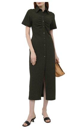 Женские кожаные мюли freddy BY FAR черного цвета, арт. 21SSFRMBLCRE | Фото 2