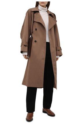 Женские кожаные челси elos BALLY коричневого цвета, арт. EL0S-STUDS/19 | Фото 2