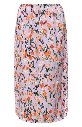 Женская шелковая юбка MARNI сиреневого цвета, арт. G0MA0348M2/UTSF62 | Фото 1