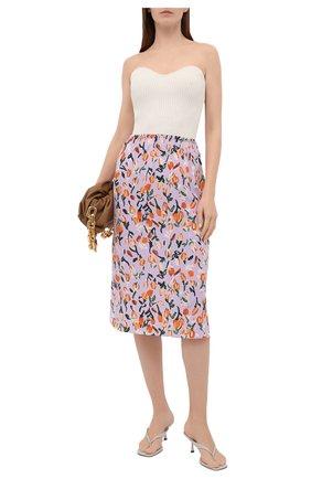 Женская шелковая юбка MARNI сиреневого цвета, арт. G0MA0348M2/UTSF62 | Фото 2