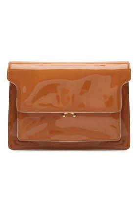 Женская сумка trunk large MARNI коричневого цвета, арт. SBMP0076Q0/P4078 | Фото 1