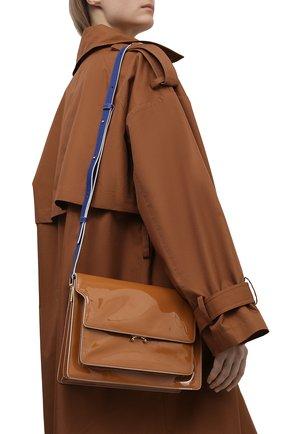 Женская сумка trunk large MARNI коричневого цвета, арт. SBMP0076Q0/P4078   Фото 2